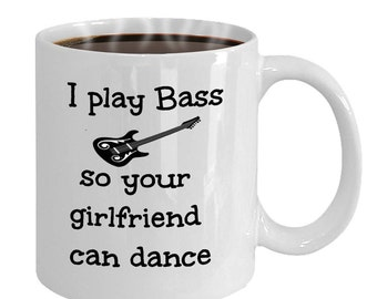 Bass Player Coffee Mug, Funny Bass Player Mug, Gift For Bass Player, band, Musician, Musicians.