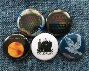 "Coldplay | 1"" Button Pinbacks"