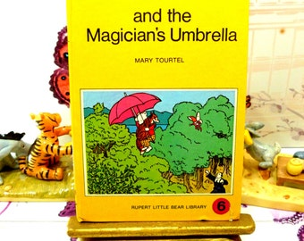 Rupert and the Magicians Umbrella Mary Tourtel Little Bear Library number 6 1970s Vintage Hardback Rupert Book 1st Ed