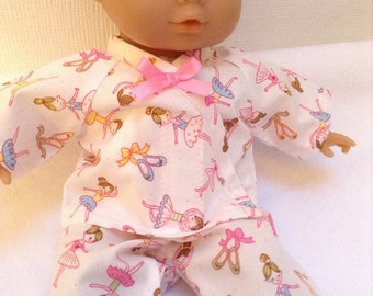 Dolls Clothes 12 inch (30cm) Pyjamas to fit Corolle Calin, ELC Cupcake & similar baby dolls