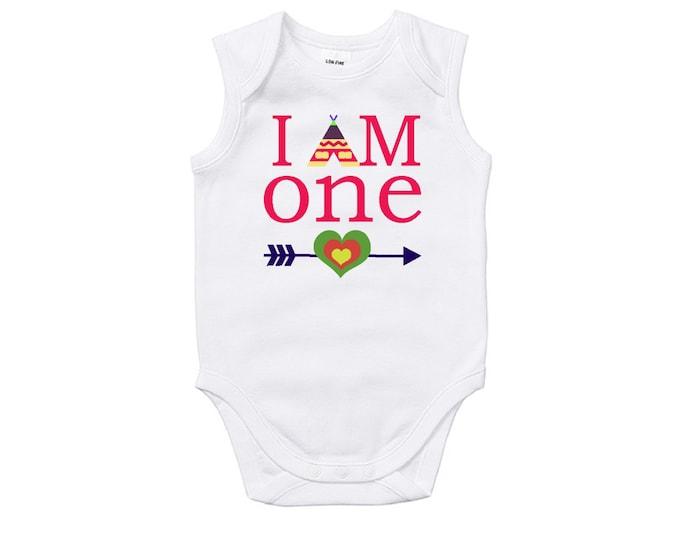 I Am One Girls Birthday Bodysuit