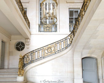 Versailles, France Photography - Staircase at Le Petit Trianon, Paris Travel Photography, French Home Decor, Large Wall Art