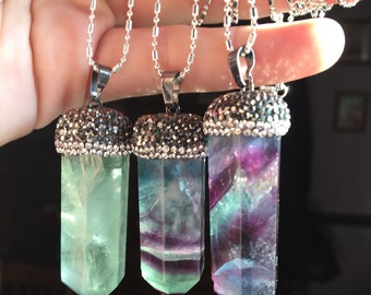 Fluorite and Marcasite Necklace
