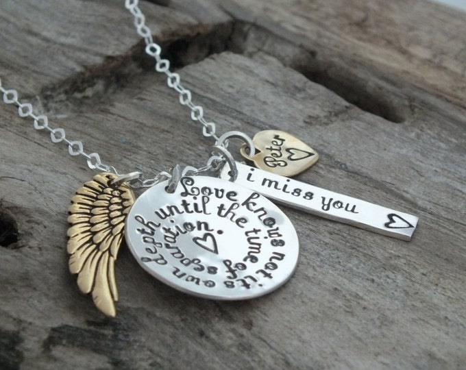 Shakespeare necklace | Bereavement gift | In memory of Husband Boyfriend | Loss of Spouse | Remembering a loved one | Shakespeare jewelry