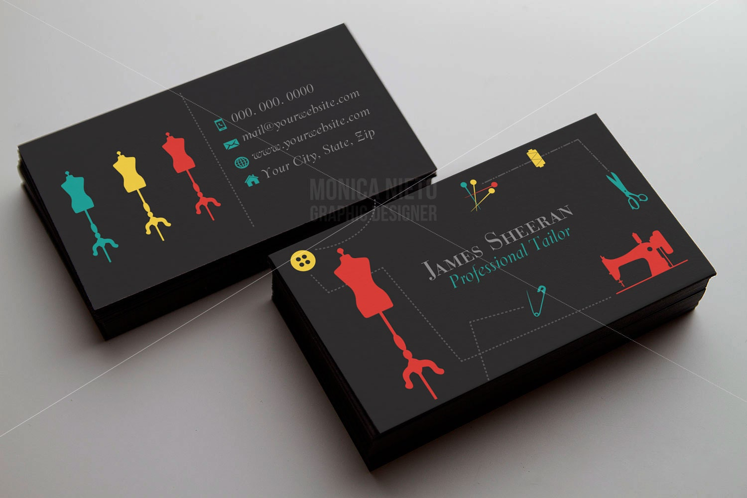Tailoring Services Business Card/ Tailor Business Cards/