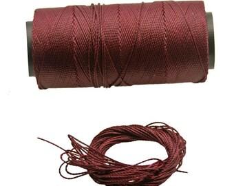 Macrame Waxed cord 10 Yards - 9 Meters macrame string, waxed polyester cord, 1 mm thread, Art supply, jewelry making, Diy macrame, 1 mm rope