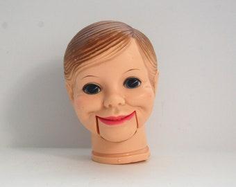 Vintage Ventriloquist Doll Head, Horsman Doll