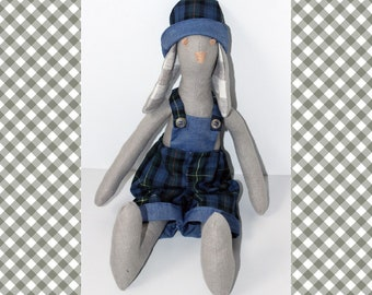 Tilda bunnies toy, Decoration handmade, Tilda animal dolls, Gift for girl or boy, Home and Holiday Decor, Soft Handmade Bunny, Rabbit doll