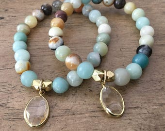 The Paige Bracelet- Amazonite