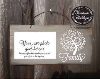 family sign, family tree, family picture frame, family tree picture frame, gift for family, Christmas gift, family reunion gift