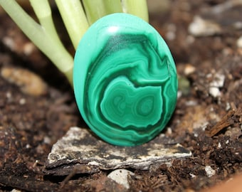 Vintage African Oval Malachite Cabochon 30X40