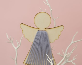 Angelica Angel Christmas Tree Topper Craft Kit. Wooden Xmas decoration.