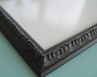 Black Framed Dry Erase Board / Distressed Ornate Frame / Home Office  / Organizer / Available in Many Sizes