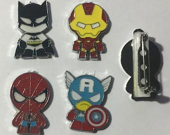 Superhero Pins