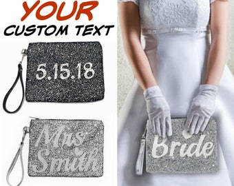 Bride Clutch Bag Personalized Bridal Bags, Bridal clutch Personalized Mrs Clutch, Personalized Wedding Clutch for Bride Gift for Wedding Day