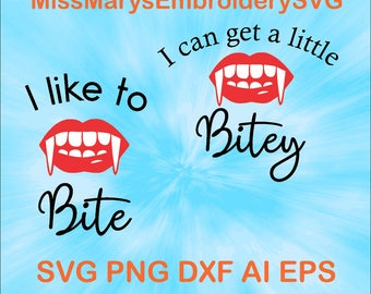 SVG Vampire Bite Cutting File DXF, AI Commercial Personal Use