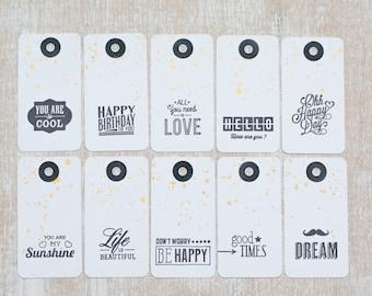 10 handmade tag