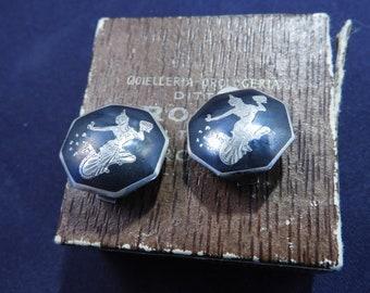 Vintage siam silver clip on earrings. 925. Siam Sterling silver. Vintage clip on earrings. vintage earrings