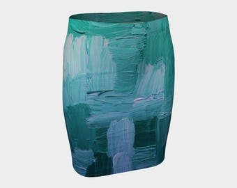 I'm Blue Ladies Fitted Skirt. Be daring and wear this to work? lolo