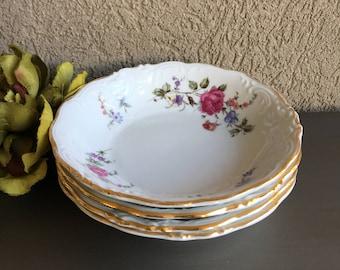 Sheraton Rose Walbrzych Dessert / Sauce / Fruit Bowls Vintage Set 4 - #N0022