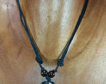Peace Necklace - Hope Necklace - Love Necklace - Black Necklace Engraved -Positive Necklace - Peace Love Hope - Peace Symbol Pendant Heart