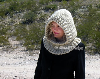 Hooded Cowl Crochet Pattern 113 Crochet Cowl Pattern Cream Hood Toddler Child Teen Adult Girls Women Winter Neck Wear