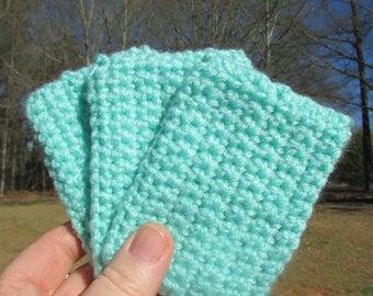 Crochet tawashi scrubbie eco set of three