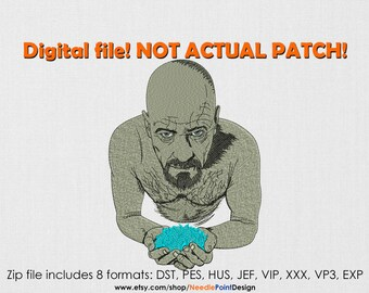 INSTANT DOWNLOAD - Walter machine embroidery design. Breaking machine embroidery. Movie embroidery design. Embroidery file
