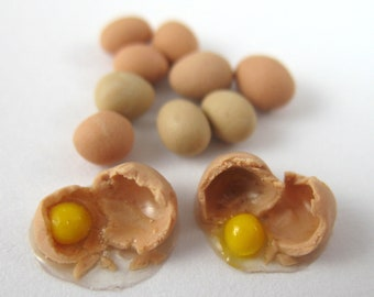 Dollhouse Miniature Food Eggs in 12th Scale