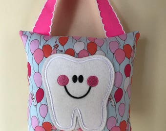 Tooth Fairy Pillow - Balloon Pillow with Bright Pink Ribbon - Kids Pillow - Kids Gift