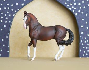 Bay Marwari Resin Model Horse Sculpture