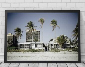 Beach House Art Print, Beach, Beach House, Beach Art, Beach Print, Beach Photography, Printable Digital Download, Photography