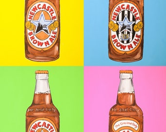 metal sign newcastle brown ale