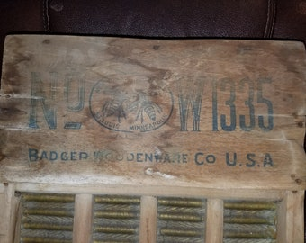 Antique Advertising Wooden Washboard