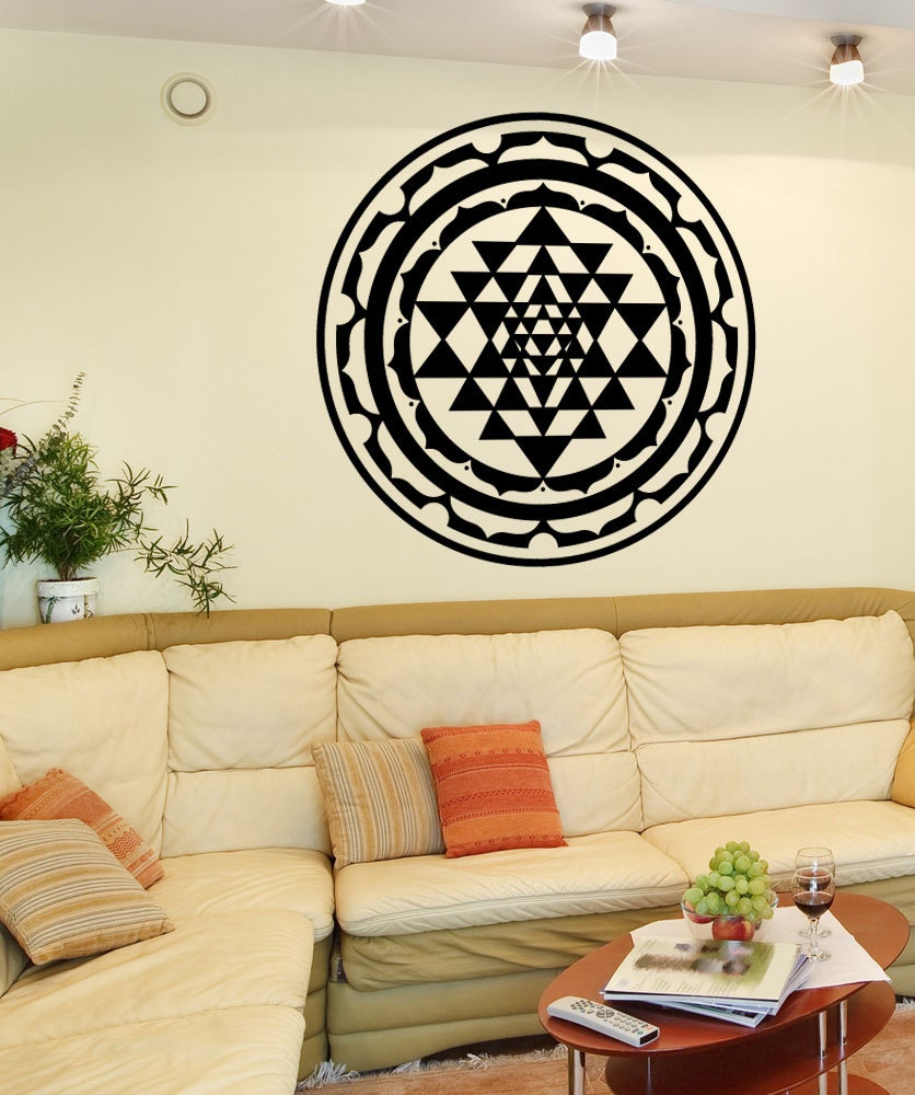 Vinyl Wall Art Decal Sticker Sri Yantra Design OSMB1256m