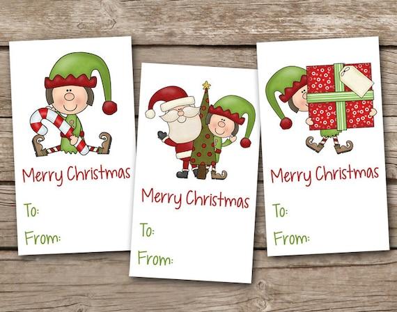 Elf Kisses Tags, Christmas Treat Tags, Christmas Tag ...  |Christmas Elf Tag