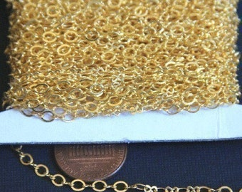 100 ft spool of Gold Plated Chain Figure 8 Connector Chain 2.9X 3.3mm links