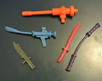 Vintage Teenage Mutant Ninja Turtles Weapons