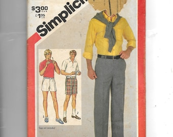 Vintage Simplicity Men's Pants , InTwo Lengths  and Shorts Pattern 5399