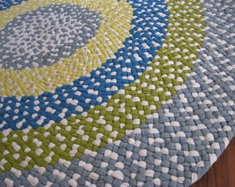 Made to Order Custom Braided Rug / Rag Rug / Braided Carpet in your choice of colors for the nursery / baby's room / child's room