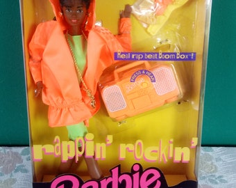 Mattel African American Rappin Rockin Christie Barbie Doll New in box Barbie Doll