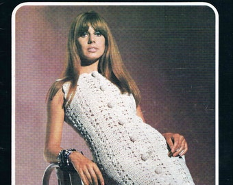 Vintage 1970's Villawool Knit & Crochet Patterns