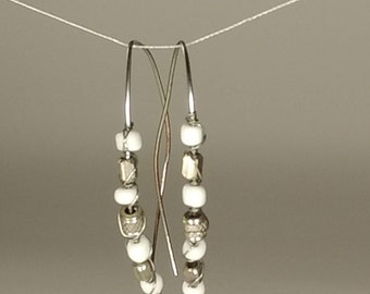 Silver white earring wires