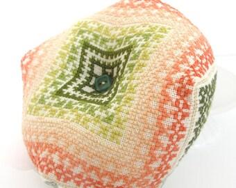 Biscornu cross stitch pattern: Ombre Biscornu - PDF pattern