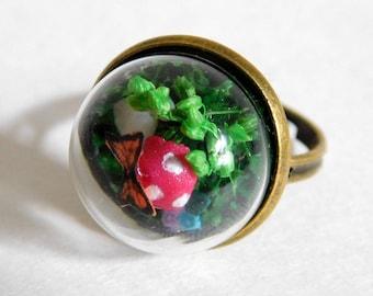 Fairy Garden Globe Ring