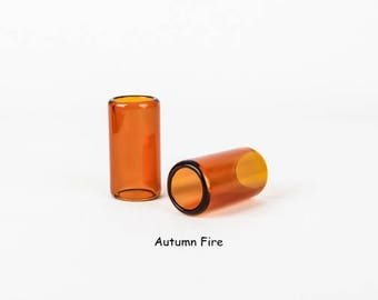 Handcrafted Glass Guitar Slides - 32 mm diameter - Autumn Fire