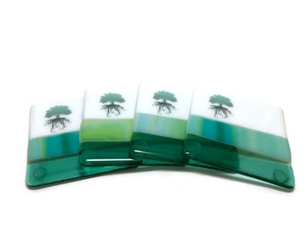 Fused glass, handmade glass coasters, themed coasters, tree, home decor, fused glass coasters, tree of life coasters, tree of life,