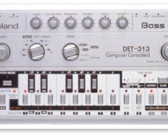 Roland 303 - Detroit 313 Sticker