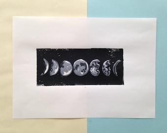 Linoprint moon