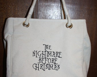 Nightmare Before Christmas Womens Canvas Tote  SALE